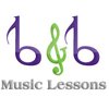 Piano Lessons, Classical Guitar Lessons, Drums Lessons, Violin Lessons, Bass Lessons, Voice Lessons, Music Lessons with B&B Music Lessons.