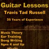 Acoustic Guitar Lessons, Electric Guitar Lessons, Music Lessons with Travis Tad Russell.